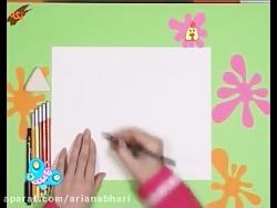 آموزش نقاشی - خروس
