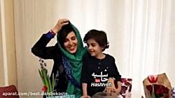 پشت صحنه سوتی ها و تپق های متوالی و خنده دار لیلا بلوکات هنگام ضبط تبریک عید نوروز
