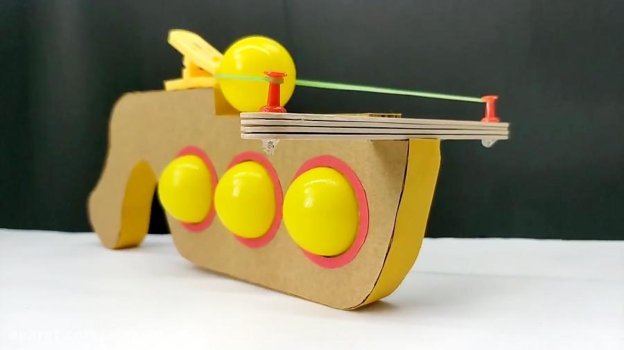 ساختنی و سرگرمی پرتابی:ساخت پرتاب توپ پینگ پنگ