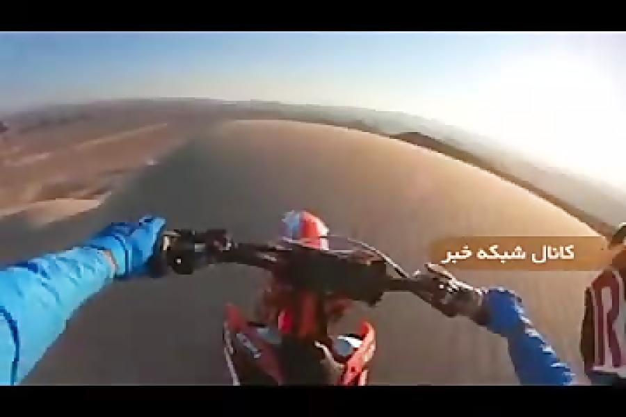 موتور سواری در صحرا با موتور کراس.hd