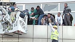 بیماران طبقه بیمارستان استانبول در آتش سوزی تخلیه شدند