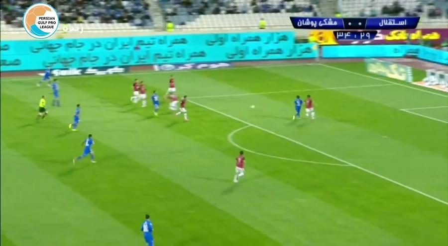 خلاصه بازی استقلال 4-1 مشکی پوشان