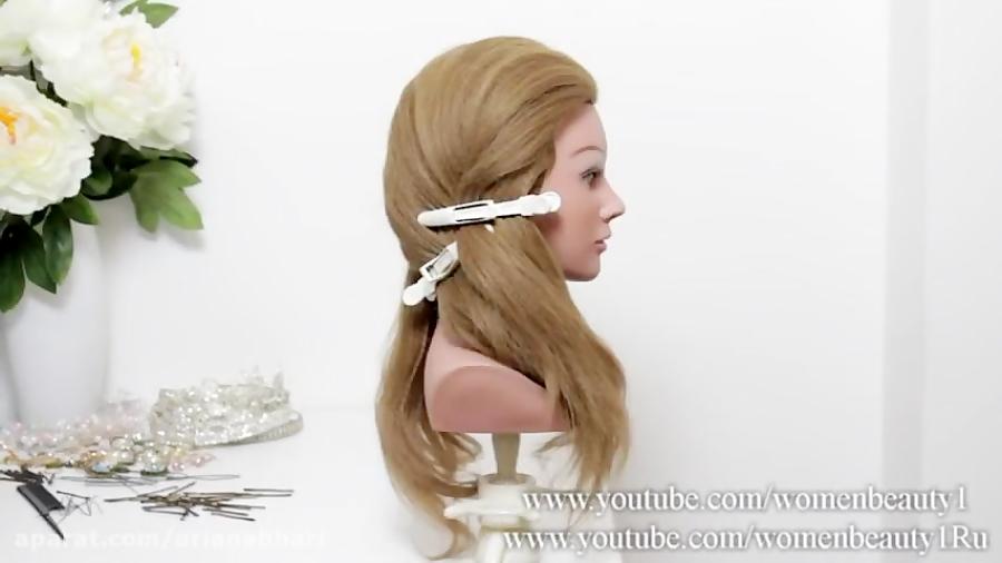 درس آرایش مو بانوان - شینیون عروس - شینیون