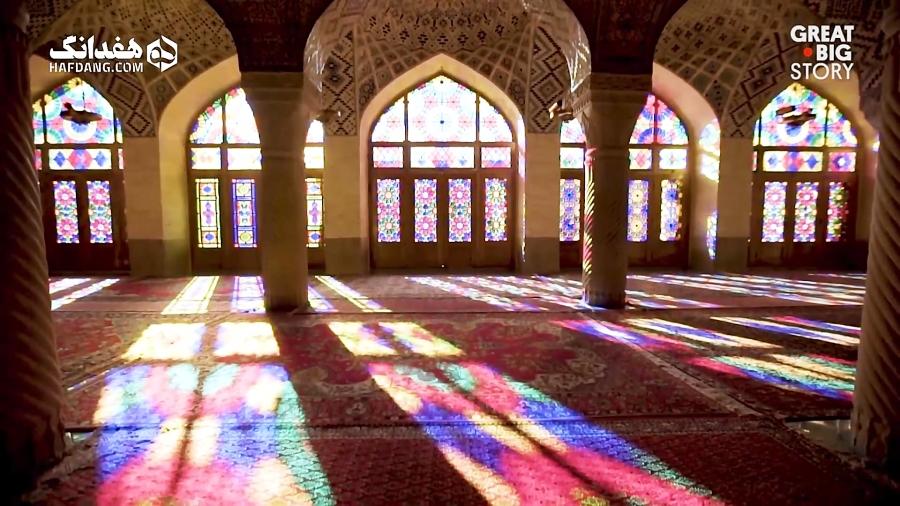 گزارش رسانهٔ آمریکایی از جادوی رنگ در مسجد نصیرالملک