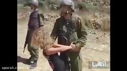 جدال دردناک مادر و دختر فلسطینی با سربازان اسرائیلی