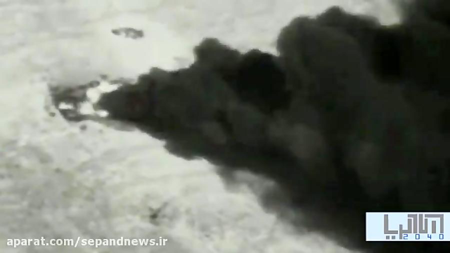 تصاویر هوایی از لحظه آتش زدن لاستیک توسط فلسطینی ها