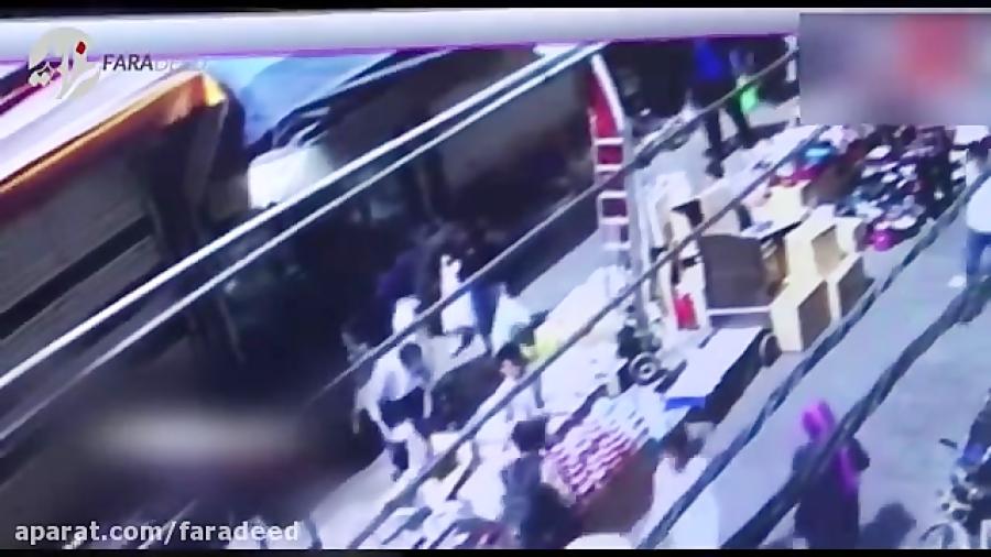 لحظه ربوده شدن دختر 4 ساله در بازار بلور فروش های تهران