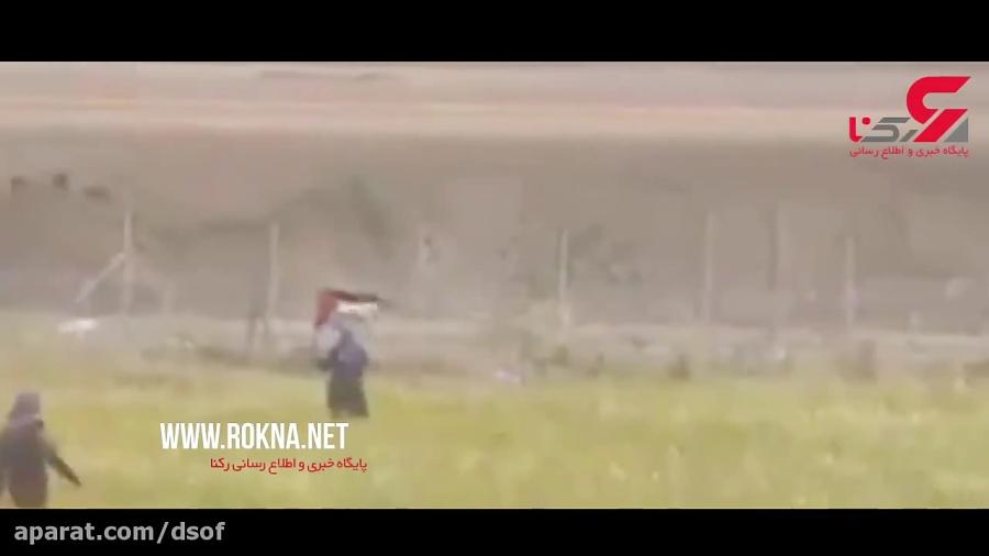 لحظه شلیک تک تیرانداز اسرائیلی به یک زن