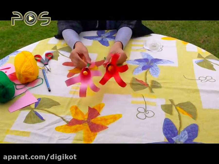 کاردستی کودکانه -گل لاله کاغذی