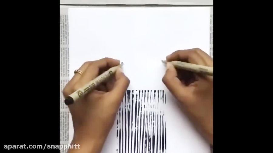 فکر می کنید بتوانید اینگونه نقاشی بکشید؟