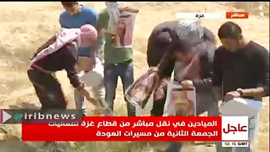فیلم به آتش کشیدن عکس پادشاه و ولیعهد عربستان و نخست وزیر اسرائیل در مرز #غزه