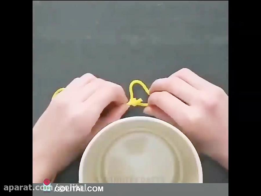 یک آویز گلدان ساده و کاربردی!