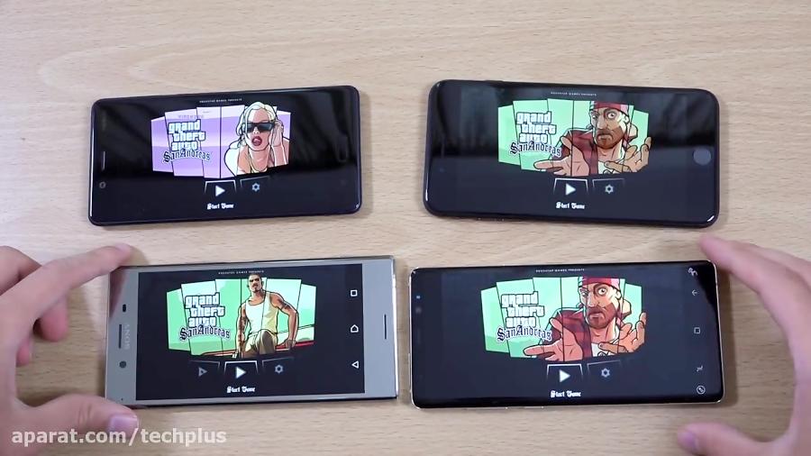 مقایسه iphone 8 plusوNote8وNokia8وXZ Premium در بازی ها