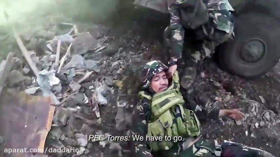 نجات یک سرباز از آتش داعش توسط نیروهای ویژه فیلیپین