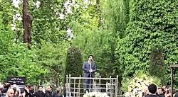 آواز محمد معتمدی در مراسم تشییع بزرگ لشگری