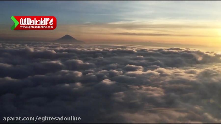 چشم اندازی دیدنی از کوه دماوند