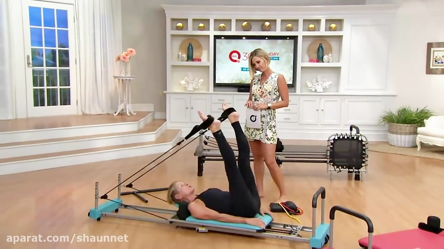 Aeropilates 4-Cord Reformer Plus w/ 4 DVDs and Rebounder on QVC