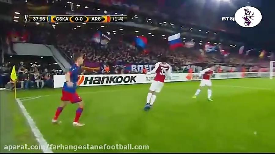 خلاصه بازی زسکا مسکو 2-2 آرسنال