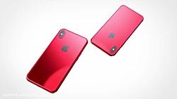 کانسپت iPhone X و +iPhone X قرمز
