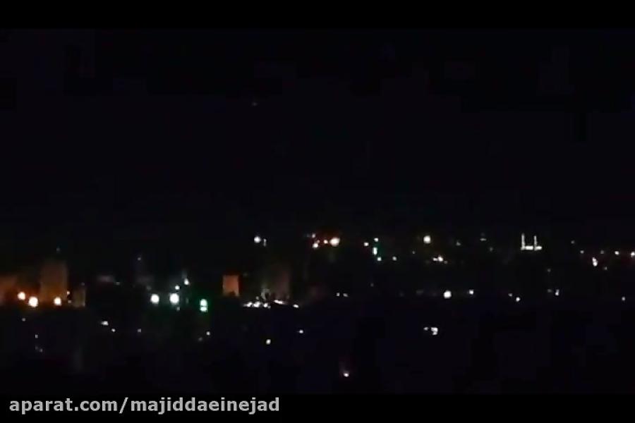 انهدام موشکهای آمریکا توسط پدافند هوایی سوریه