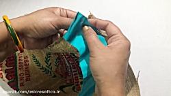 آموزش گونی بافی - بافت زیر پایی