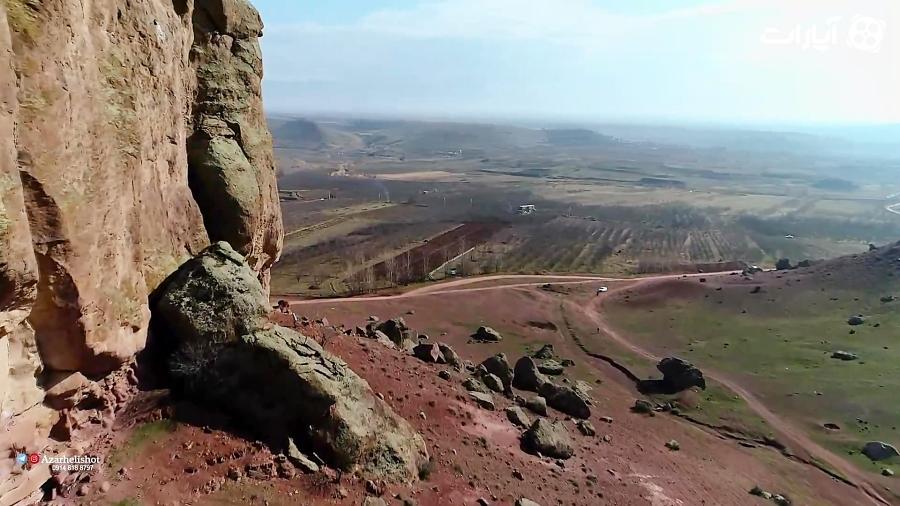 تصویر هوایی ، یکی از خاص ترین دره های دنیا ، در ایران - دره تنگ