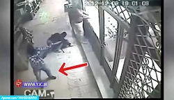 فیلم لحظه سرقت مسلحانه ...