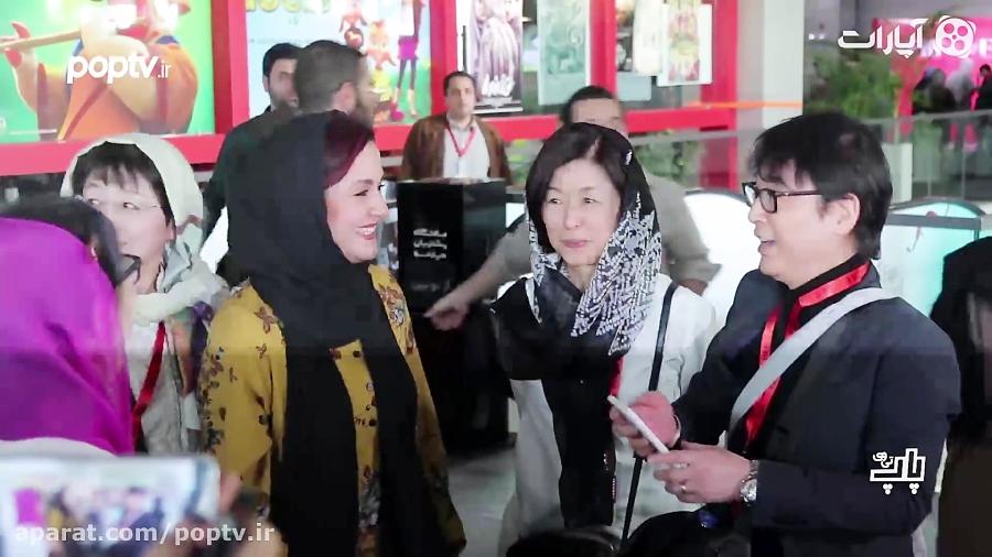 ممانعت مریلا زارعی از دست دادن به مهمان مرد خارجی