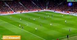گل اول بارسلونا به سویا توسط سوارز در فینال کوپا دل ری