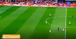 گل سوم بارسلونا به سویا توسط سوارز در فینال کوپا دل ری