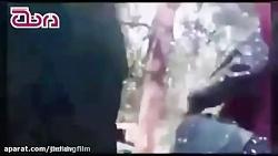 فیلم کتک زدن یک خانم توسط مامور گشت ارشاد نیروی انتظام