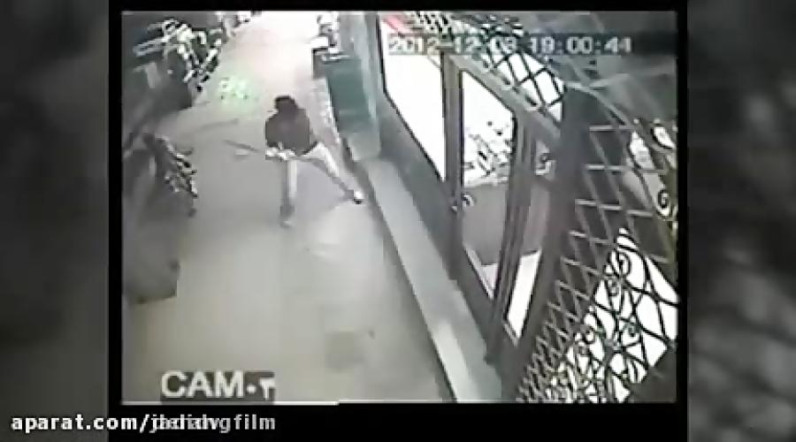 فیلم لحظه سرقت مسلحانه بهمن ورمزیار