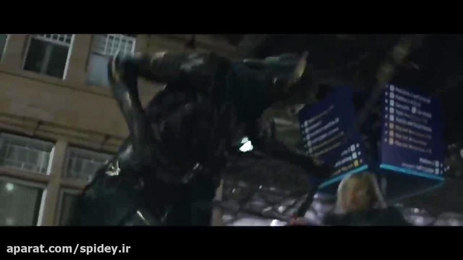 کلیپ مبارزه اونجرز با یاران ثانوس در فیلم جنگ بینهایت!