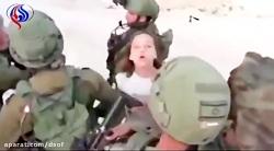شجاعت دختر فلسطینی مقابل سربازان اسرائیلی