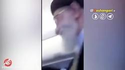 حضور بدون تشریفات رهبر انقلاب در هواپیما