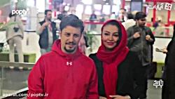 جواد عزتی و همسرش مهلقا باقری جلوی دوربین عکاس ها