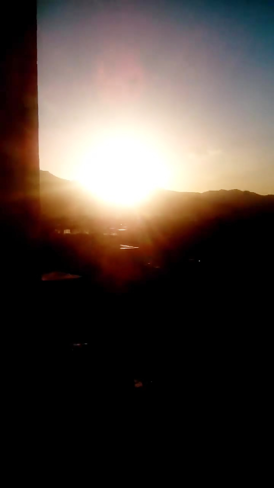 تصویر من از غروب خورشید