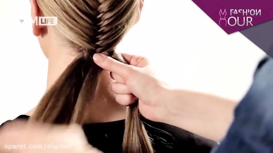 آموزش بافتن مو به سبک تیغ ماهی به زبان فارسی
