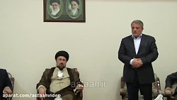 سخنرانی رییس شورای شهر تهران در حضور یادگار امام