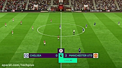 گیم پلی FIFA 18 چلسی و منچس...