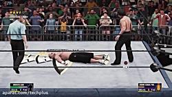 کشتی کج بروسلی و جان سینا در WWE 2K18