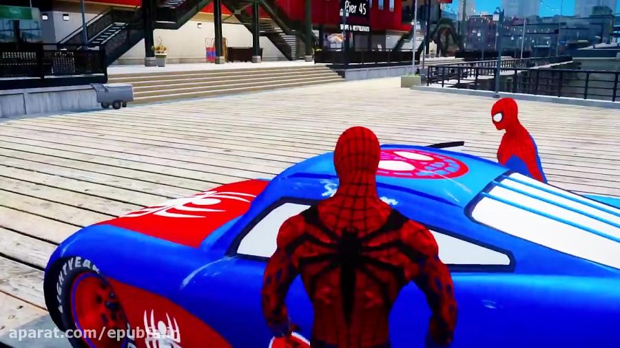 بازی مسابقه ماشین سواری مرد عنکبوتی
