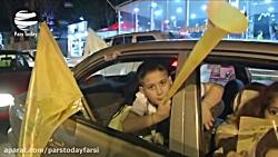 جشن مردم لبنان در پی پیروزی نامزدهای مقاومت در انتخابات