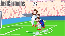 کارتون خنده دار رئال مادرید و بارسلونا