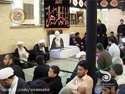 مراسم هفتگی مسجد فاطمیه قم پس از رحلت آیت الله بهجت