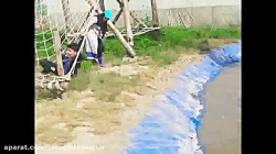 پل طنابی و دانش آموز زب...