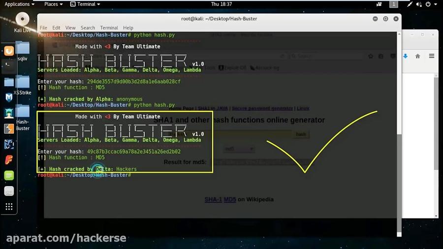 Hash Buster - Python Script Which Scraps Online MD5 Hash Decrypter