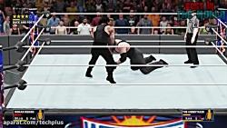 کشتی کج آندرتیکر و رومن رینز در WWE 2K18