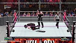 کشتی کج آندرتیکر و کین در WWE 2K18