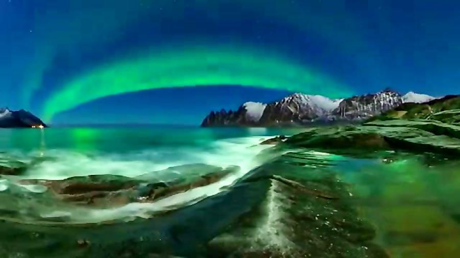 شفق قطبی در نروژ رو به صورت 360 درجه ببینید و لذت ببرید